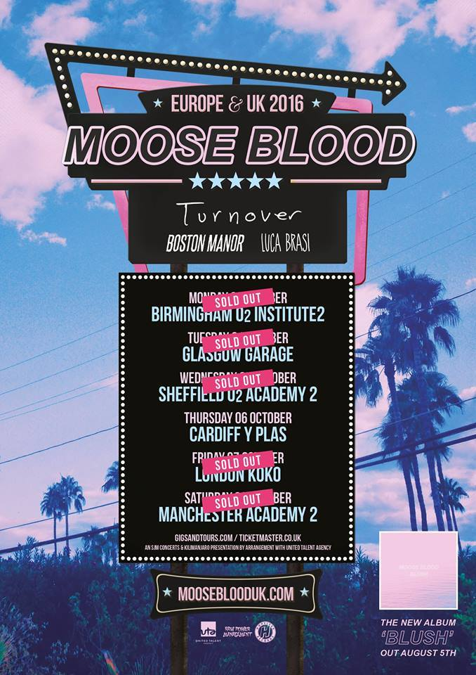 Mosse Blood UK Tour 2016