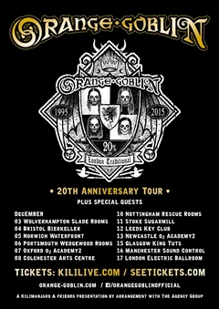Orange Goblin UK Tour 2015