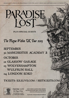 Paradise Lost UK Tour 2015