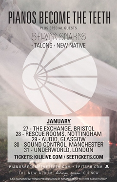 Pianos Become The Teeth UK Tour 2015