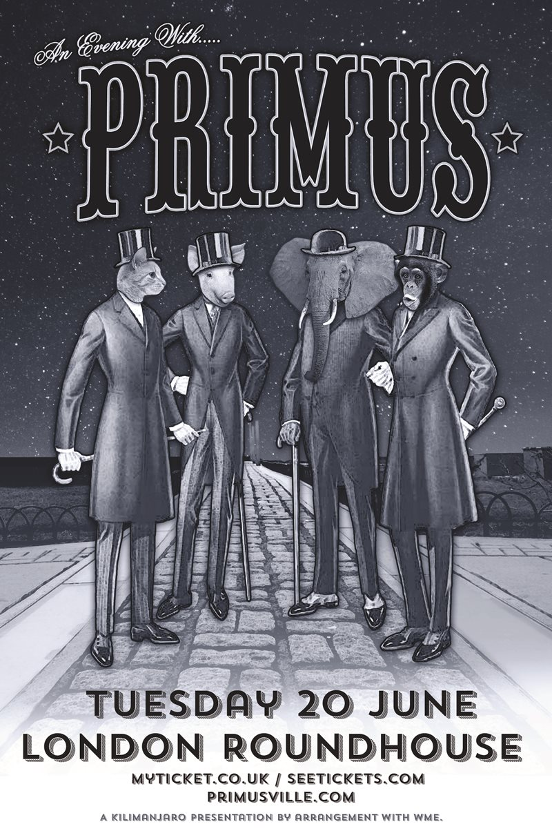 An Evening with Primus UK London 2017 show
