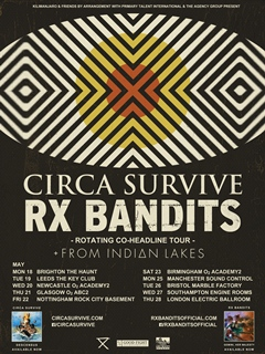 RX Bandits Circa Survive co-headline UK Tour 2015