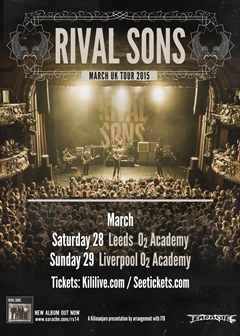 Rival Sons UK Tour 2015