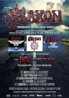 Saxon UK Tour 2015