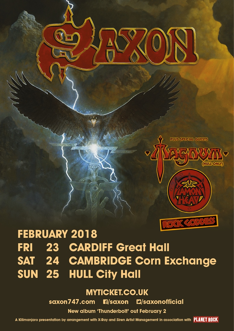 Saxon UK Tour 2018