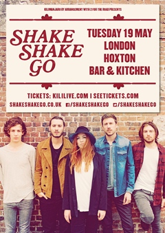 Shake Shake Go UK Tour 2015