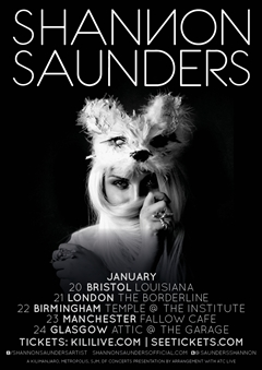 Shannon Saunders UK Tour 2015