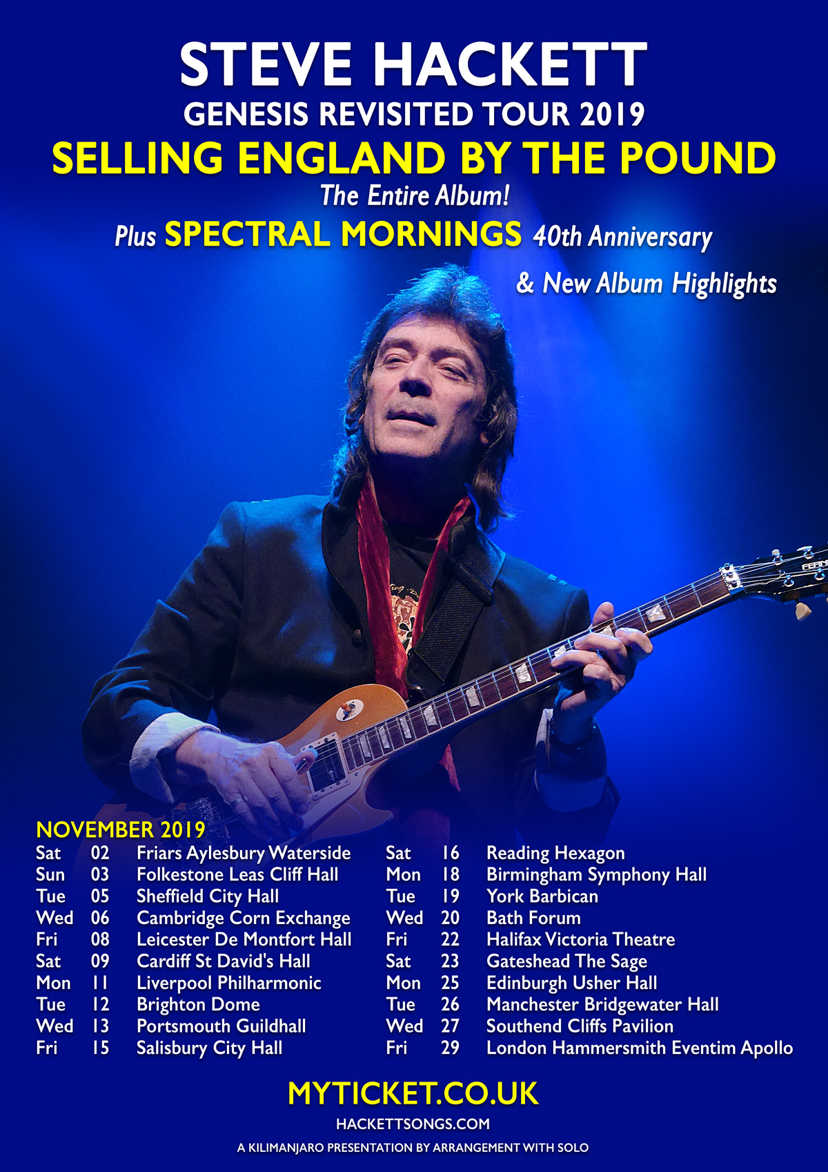 Steve Hackett Genesis Revisited 2019 - Selling England By The Pound - The Entire Album