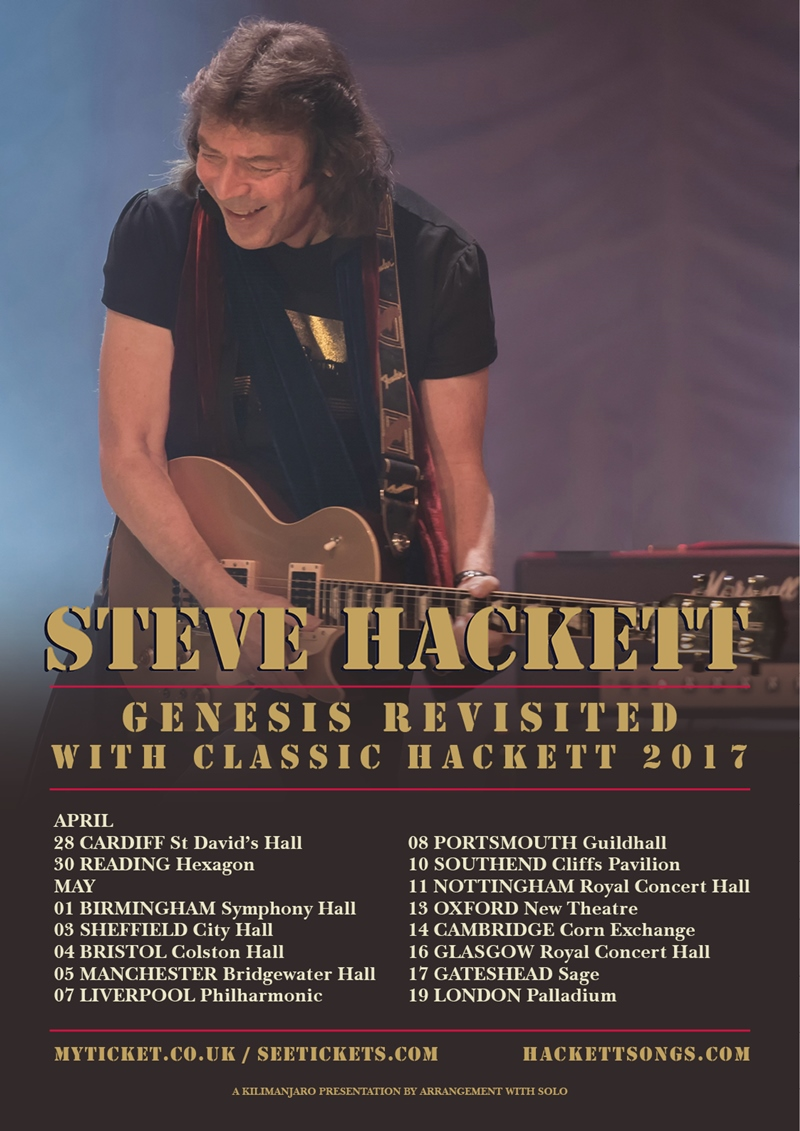 Steve Hackett UK Tour 2017