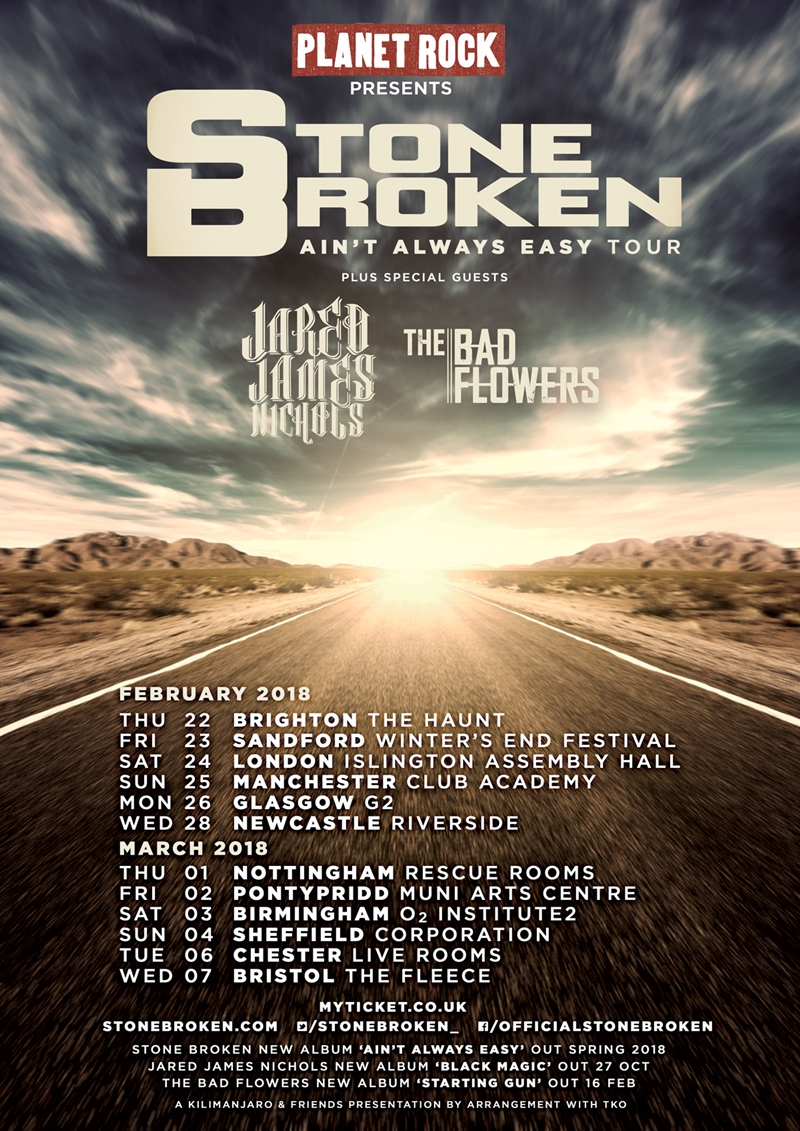 Stone Broken UK Tour 2018