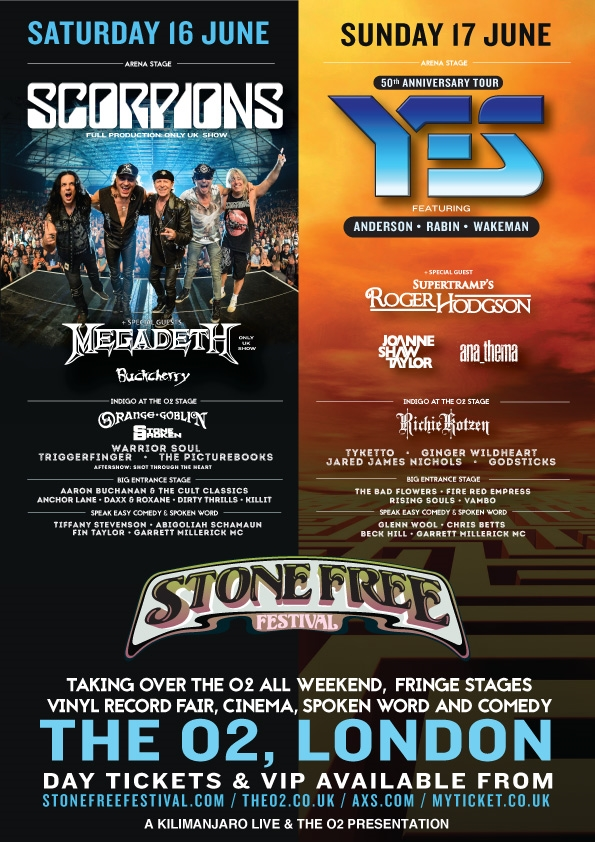 Stone Free 2018 March Announcement