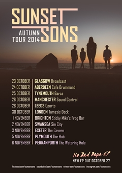 Sunset Sons UK Tour 2014