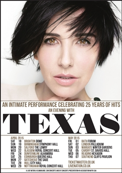 An Evening With Texas UK Tour 2015