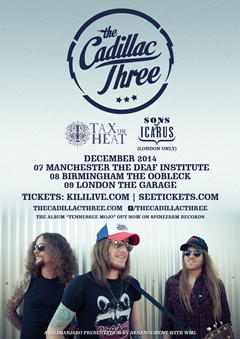 The Cadillac Three UK Tour 2014
