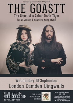 The Ghost Of A Saber Tooth Tiger (GOASTT - Sean Lennon & Charlotte Kemp Muhl)