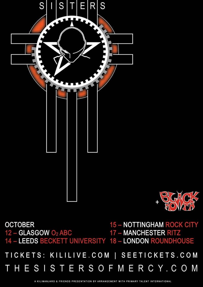 The Sisters of Mercy UK Tour 2015