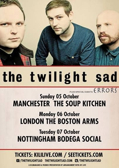 The Twilight Sad UK Tour 2014
