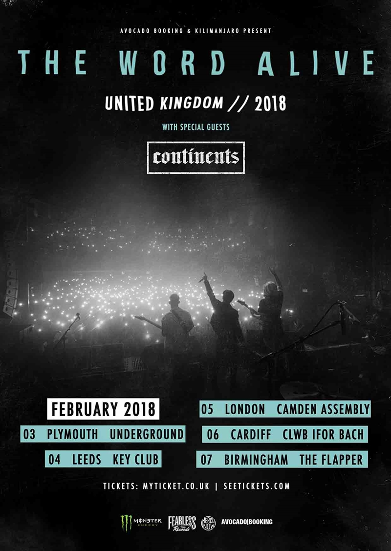 The Word Alive UK Tour 2018