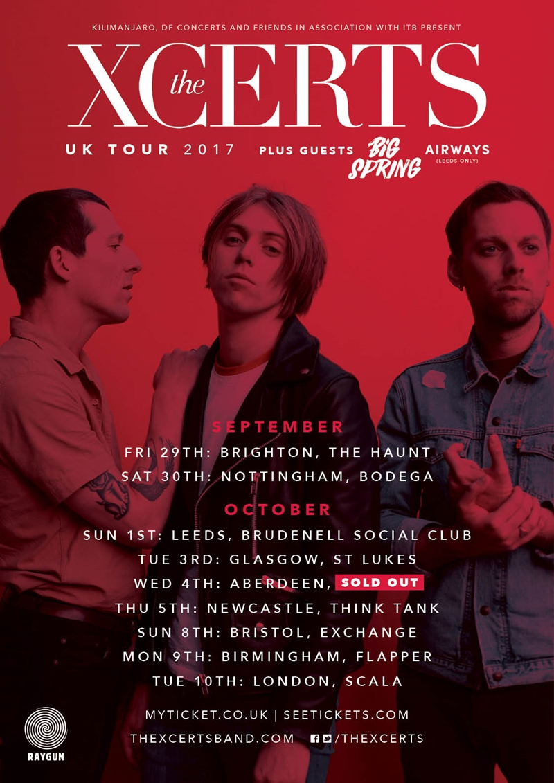 The Xcerts UK Tour 2017