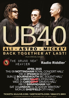 UB40 Featuring Ali, Astro and Mickey UK Tour 2015