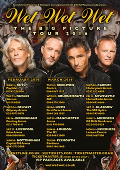 Wet Wet Wet UK Tour 2015