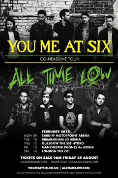You Me At Six All Time Low Co-Headline Tour UK 2014