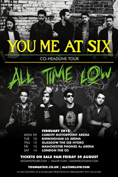 You Me At SIx + All Time Low co-headline UK Tour 2014