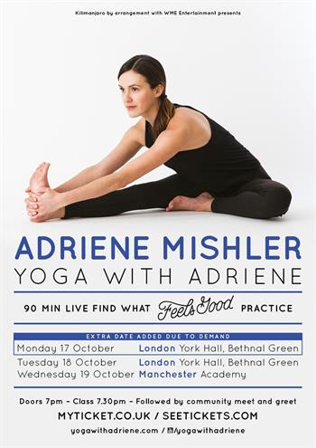 Adriene Mishler Yoga with Adriene UK Tour 2016