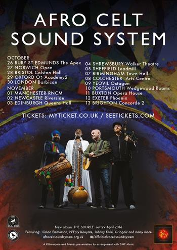 Afro Celt Sound System UK Tour 2016