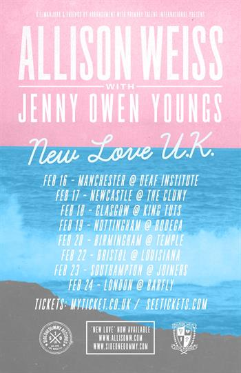 Allison Weiss UK Tour 2016
