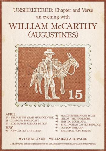 An Evening with William McCarthy UK Tour 2018