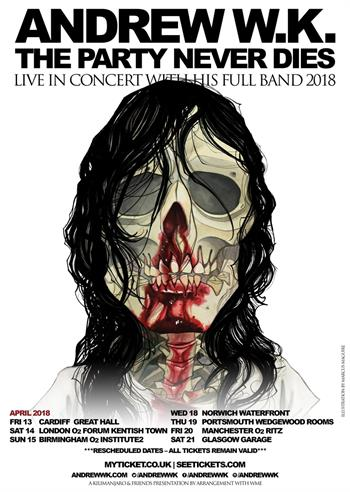 Andrew W.K UK Tour 2018