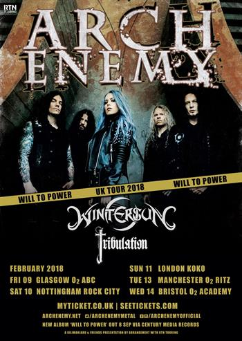 Arch Enemy UK Tour 2018