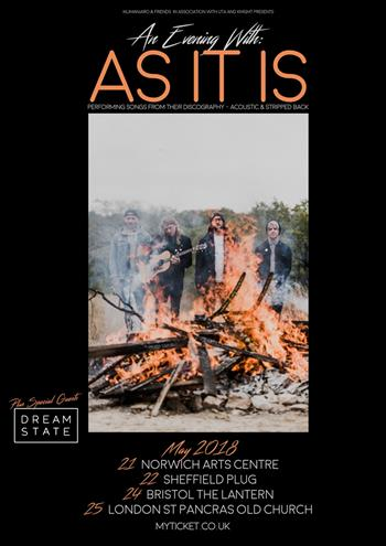 An Evening with As It Is UK Tour 2018