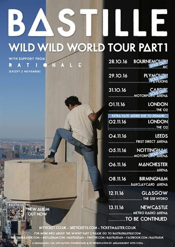 Bastille UK Tour 2016