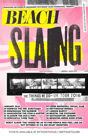 Beach Slang UK Tour 2016