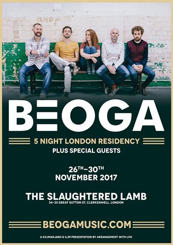 Beoga - A London Residency UK shows 2017