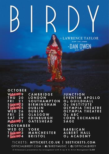 Birdy UK Tour 2016