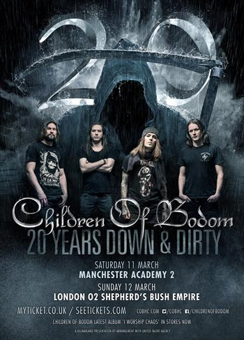 Children of Bodom UK Tour 2017