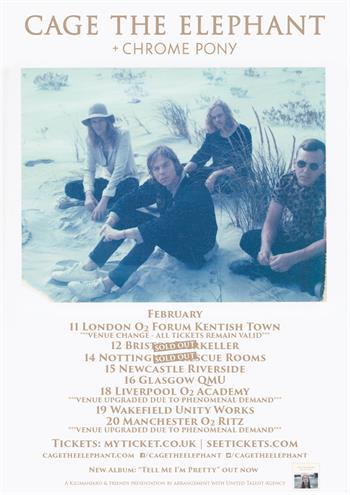 Cage The Elephant UK Tour 2016