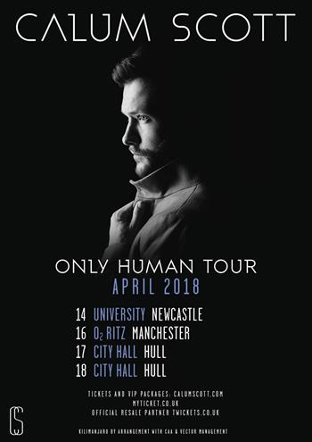 Calum Scott UK Tour 2018