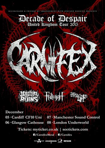 Carnifex UK Tour 2015