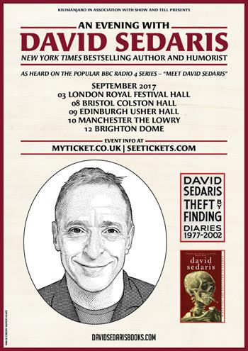 An Evening with David Sedaris UK London 2017 show