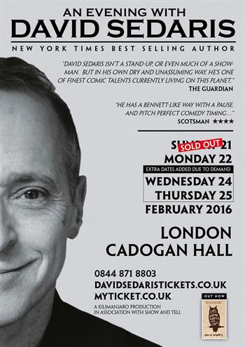 David Sedaris UK London 2016