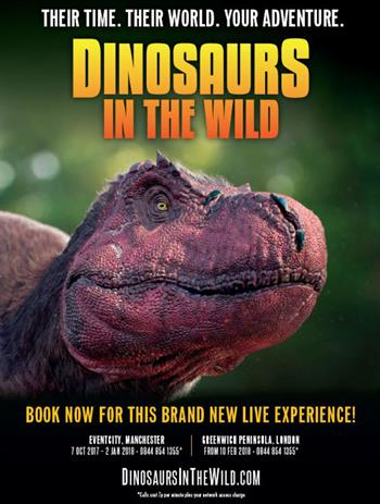 Dinosaurs in the Wild UK Tour 2018