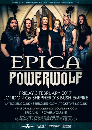 Epica + Powerwolf UK London 2016 show