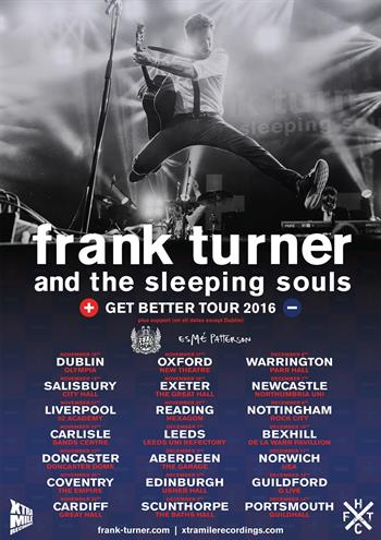 Frank Turner & The Sleeping Souls UK Tour 2016