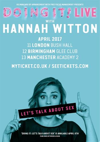Hannah Witton Doing It! Live UK Tour 2017