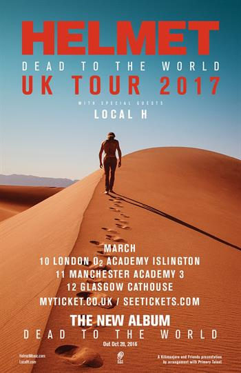 Helmet UK Tour 2017