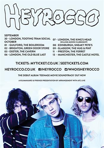 Heyrocco UK Tour 2015